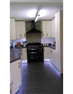 Cologne Hornschurch Ivory Shaker & Axiom Steel Materia Laminate Worktops