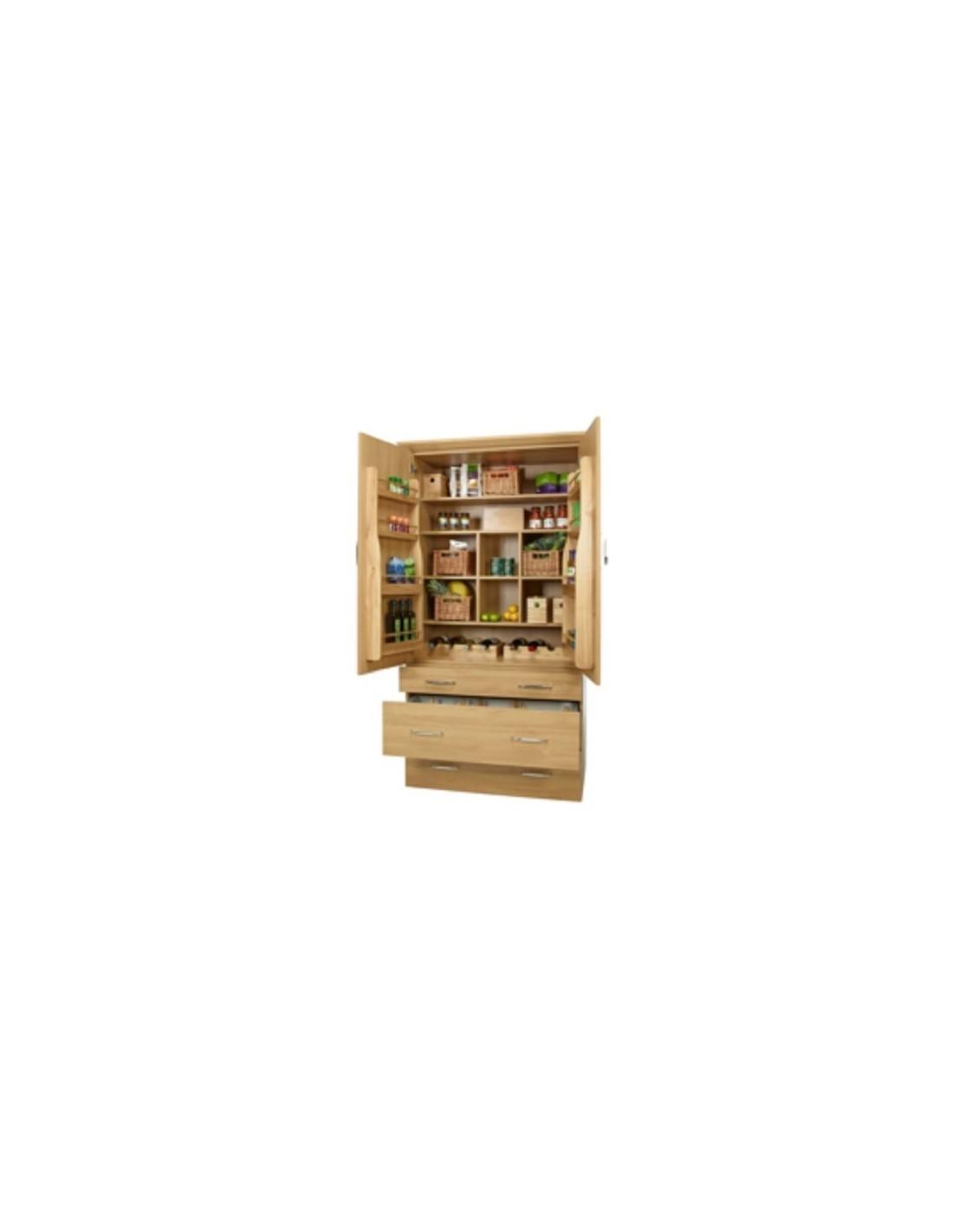 54313423 solid oak tall storage rack shelving suits door fix for Oak kitchen larder units