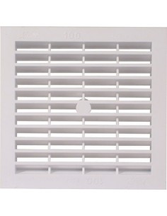 Ventilation Grill 154mm White Finish Recess Mounting