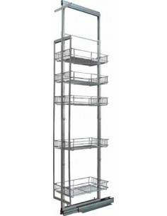 300mm Pull Out Tall Kitchen Larder Baskets 1690-2090mm