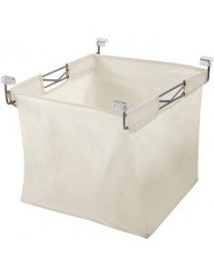 Laundry Basket With Wire Frame 460mm White/Silver
