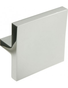 Pull Handle Chrome Square Knob Modern 60 x 60mm