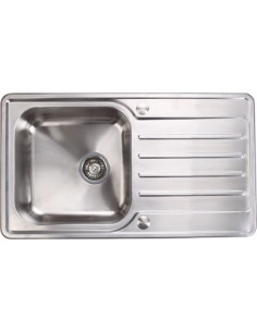 Stainless Steel Kitchen Sink Deep Single Bowl 860x500mm