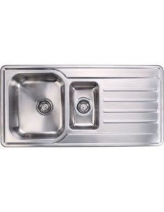 Modern Kitchen Sink 1.5 Bowl Modern Low Radius & Waste