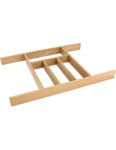 Wooden Solid Oak Cutlery Insert Suits 400-1000mm Cut To Size