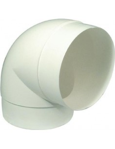 90 Degree Round Pipe Connector Flame Retardant White