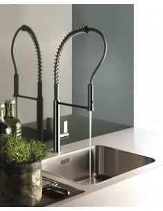 Gessi Aspire Single Lever Kitchen Tap Double Jet Hand Shower