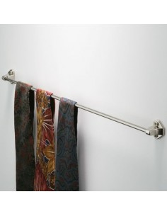 Bedroom Tie Rail 375 / 425mm Length Nickel Or Brass Finish