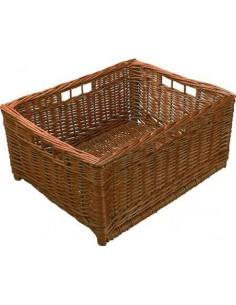 Natural Wicker Storage Basket Four Handles 450 x 375mm