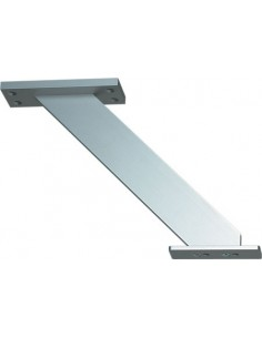 Incline Breakfast Bar Support For Worktop Mounting Aluminium