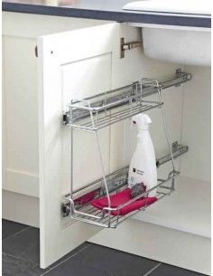 Pull Out Two Tier Storage Sink Base Linear Basket