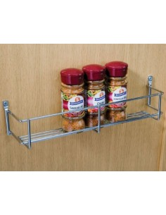 Spice & Storage Rack For Panels Or Doors 300/400mm Wire Chrome