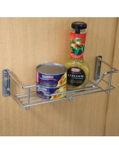 Spice Rack & Storage Basket 300/400mm Width Chrome