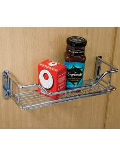 Spice Rack & Storage Basket 300/400mm Width Chrome Mesh