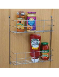 Double Multi Purpose Rack Chrome Plated Shelving For Doors/Panels
