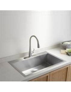 Kohler Vault Extra Large Kitchen Sink Single Bowl Stainless Steel