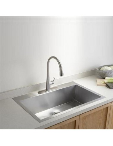 Vault By Kohler Quality Square Modern Kitchen Sinks 3821 Large Bowl
