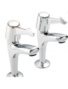 Francis Pegler Mercia Kitchen Sink Pillar Taps Kitchen Tap Chrome Pair