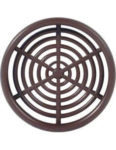 60mm Round Ventilation Grill Press Fitting, White/Brown