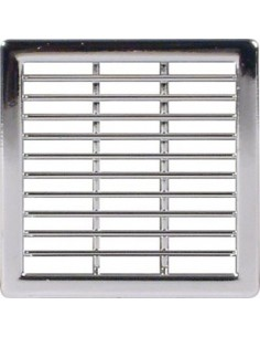 Ventilation Grill Vent Chrome, 50 x 50mm Recess Mounting