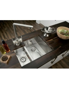 Square Modern 1.5 Undermount Kitchen Sink 1.2mm Thick Stainless