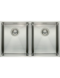 Square Double Undermount Kitchen Sink 1.2mm Stainless Steel