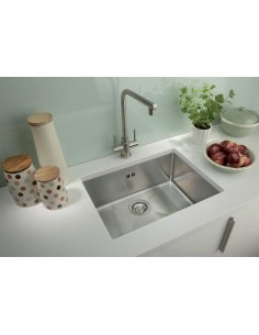 Stainless Steel Undermount Kitchen Sink Square Modern 1.2mm Thick