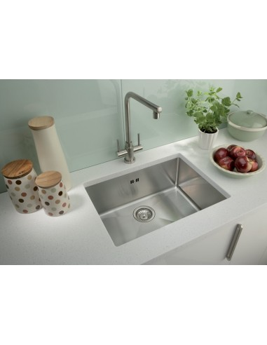 Square, Modern single bowl undermount. 1.2mm this ...