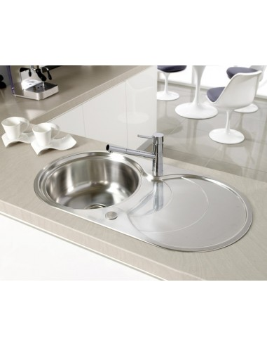 Captivating Leighton Circular Kitchen Sink U0026 Waste, Single Bowl, Stainless Steel