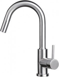 Coniston Kitchen Pull Out Spray Tap, Single Side Lever, Stainless Steel
