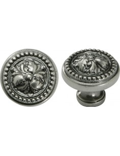 Acanthus Decorative Door Knobs Nickel Pewter