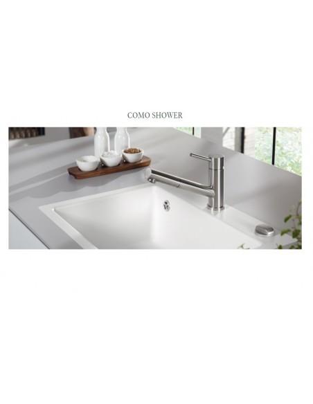Villeroy & Boch Como Shower Kitchen Tap Stainless Steel Single Lever