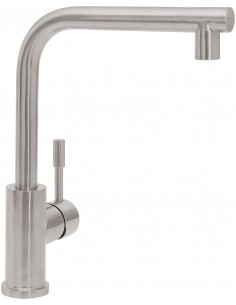 Villeroy & Boch Modern Steel Kitchen Tap Single Side/Front Lever