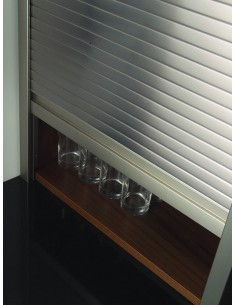 Metallic Tambour Doors Stainless Steel 1210mm 500 & 600mm