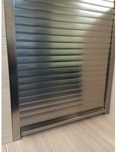 Stainless Steel Effect Tambour Door Kit  400mm X 1450mm
