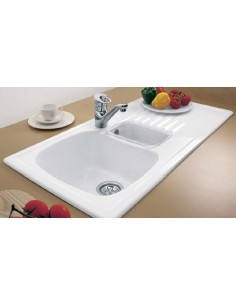 Villeroy & Boch Medici Ceramic Kitchen Sink 1.0/1.5 Bowl White