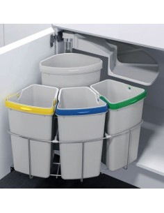 Oeko Centre Swing Waste Bin 39L Min 500mm Cabinets Four Container