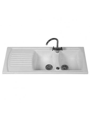 large ceramic kitchen sinks thoms denby sonnet 2 0 kitchen sink bowl white 6784